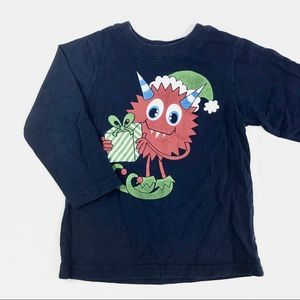 """""""Monster with present"""" long sleeve shirt"""